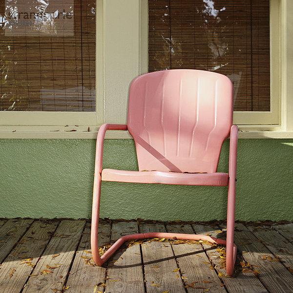 Stuhl,Vordach,pink,Metall