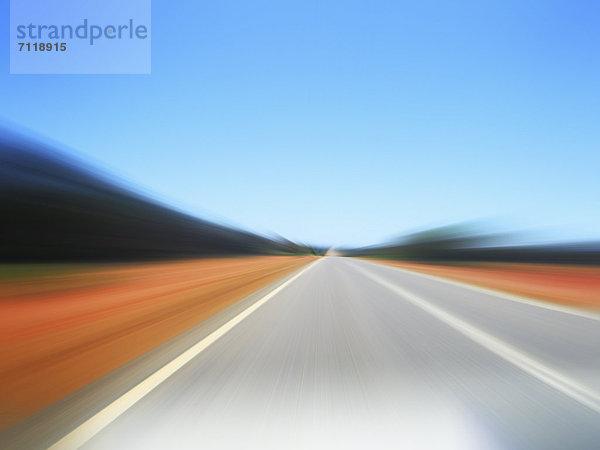 Unscharfe Straße