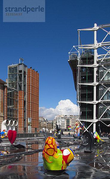 Bauwerk,Brunnen,Centre Pompidou,Europa,Fontaine,Frankreich