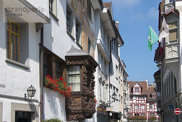 Altstadt,Erker,Europa,Fassaden,Gasse,Häuser