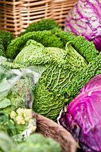 Frische Kohl bei farmer's market